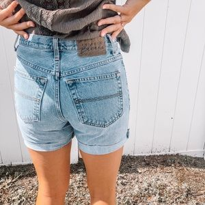 Vintage Express High Waisted Jean Shorts
